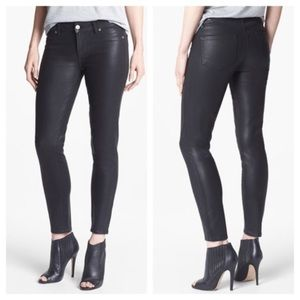 Paige Verdugo Ultra Skinny Coated Jeans Black Silk